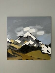 Welsh art oil painting - Landscape inspired by Kyffin Williams