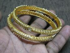 2 Filigree Sleek Pearl Minute Pattern Simulated Diamond Bangle Bracelet 2.8
