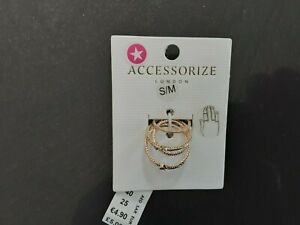 accessorize daisy costume jewellery rings size S/M
