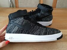 NIKE AIR FORCE 1 ULTRA FLYKNIT MID 'OREO' TRAINERS MENS SIZE UK9 EU44 GENUINE