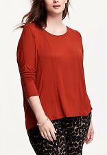 Old Navy Red or Green Rayon Drop-Shoulder Plus-Size Soft Tee long sleeve T-shirt