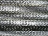 ROLL ENDS OF 4.7 METRES OF A SUPERB MODERN STRIPE UPHOLSTERY FABRIC IN GREY..