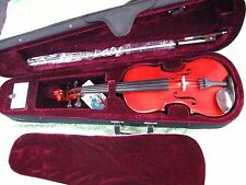 Celestini 4/4 Hand Carved Violin-Solid Wood-Flamed Maple-Shop Set Up Included!