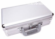 COMBINATION LOCKABLE ALUMINIUM HARD DOUBLE GUN PISTOL CASE use flight