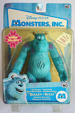 MONSTERS INC SULLEY TOP SCARER TALKING FIGURE HASBRO 2001 NEW MIB !