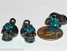 1pc Blue SKULL Fairy Rhinestone crystal pendants finding charm for necklace