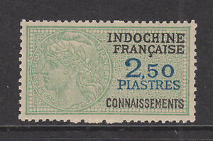 Indo-China, Connaissements Bft 34 MNH. 1948 2.50p Bill of Lading revenue stamp
