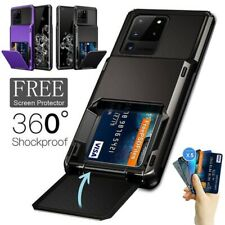 For Samsung S20 Note 20 Ultra S10 S9 S8 Wallet Card Slot Holder Armor Case Cover
