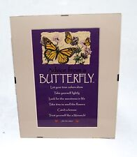 "Advice from a Butterfly Inspirational 8"" x 10"" Matted Picture Art w/ Clip Frame"