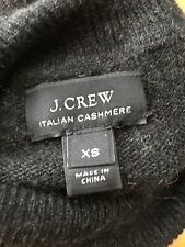 J Crew Men's XS Women's L Italian Cashmere Charcoal Turtleneck Sweater