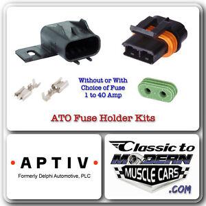 APTIV (aka Delphi) ATO Fuse Holder Kit with 14 to 16 AWG Terminal & Fuse 1 - 40A