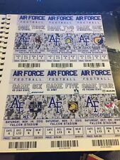 2015 AIR FORCE CADETS COLLLEGE FOOTBALL SEASON TICKET STUB STRIP SHEET SET