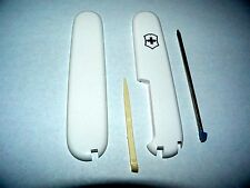 Victorinox Swiss Army Knife 91mm  PLUS KIT #10 WHITE HANDLES Used =New Take offs