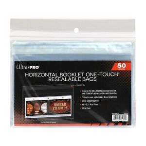 Ultra Pro Horizontal Booklet Card One Touch Resealable Bags Pack Of 50