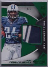 Derrick Henry 2016 Panini Certified New Generation Green Patch RC /5-TEN Titans