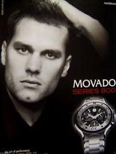 "2006 Movado Series 800 Original Print Ad Tom Brady-New England Patriots-8.5x11"""