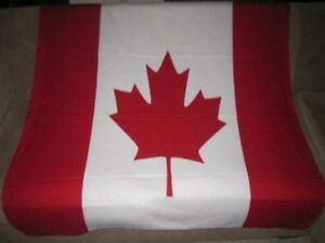 New Canada Canadian Country Flag Fleece Throw Git Blanket SOFT Red Maple Leaf