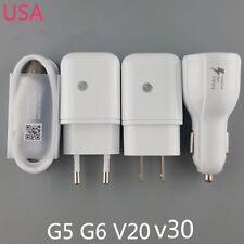 Original For LG V30 G6 USB Data Cable Fast Dual Car Charger Rapid Travel Adapter
