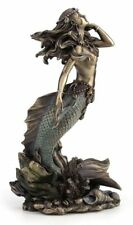 Mermaid Rising From Sea Bronze Color Statue *Valentine'S Day Gift