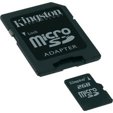 Kingston 2 GB MicroSD Standard Micro SD Flash Card Camera Cell Phone GPS SDC/2GB