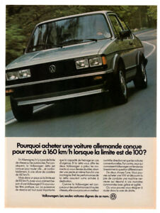 1983 VOLKSWAGEN Jetta Vintage Original Print AD Gray car photo French Canada