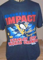 vintage 1992 Pittsburgh Penguins NHL stanley cup hockey t shirt Large