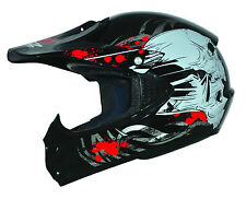 ATO Kids Pro Black XS Kinder Helm Schwarz Motorrad Cross Junior BMX Quad MX