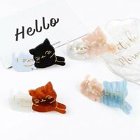 Women Cute Cat Hair Clip Barrette Stick Acrylic Hairpin Hair Accessories
