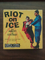 Vintage Old 8mm Movie Reel Riot on Ice Abbott & Costello