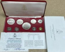 Bahamas 1976 silver 9 Coin Proof Set Original Case COA As Issued 4 Silver
