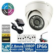 2.4Megapixel 1080P Water-proof IR HDCVI Mini Dome Camera with Power Supply