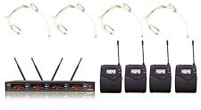 4x100 Channels UHF Wireless Professional Headset Microphone Nude