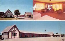 Mackinaw City Michigan~Chalet Motel: Vanities~Hi-Fi~Honeymoon Suites 1950s PC