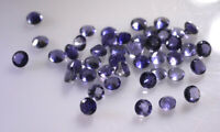 AMAZING Lot of Great Natural IOLITE 4x4 mm Round Faceted Cut Loose Gemstone