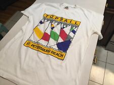 Vtg 80s Single Stitch T-shirt Medium St Pete Beach Topsail Sailing Bye Bye