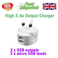 Cargador USB doble 2.4 Amp Smartphone Tablet PC Tablet Samsung HTC Kindle