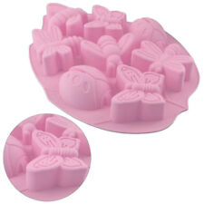 Silicone Mould Butterfly Garden Insect Bug Sugarcraft Cake Chocolate Mold  ##^&
