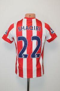 Stoke City Football Shirt Jersey Soccer 2015 2016 Home Size L Youth #22 SHAQIRI