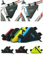 Bicycle Frame Front Tube Bag Cycling Bike Pouch Holder Saddle Panniers