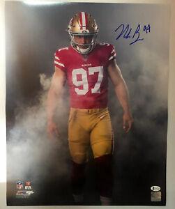 Nick Bosa Signed Autographed 16x20 Photo San Francisco 49ers BECKETT COA 7