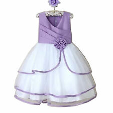 Girls Princess Communion Pageant Wedding Party Dress Flower Girl Dress