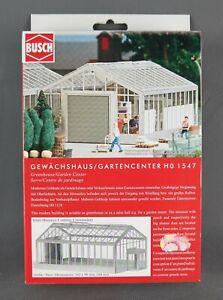 BUSCH 1547 [Spur H0, Bausatz] - Gewächshaus / Gartencenter - NEUWARE!