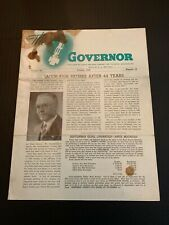1943 Governor Fisher Governor Company Marshalltown Iowa Booklet