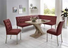 Eckbankgruppe Tischgruppe Eckbank Tisch Stühle Manchester bordeaux Eiche Sonoma