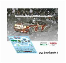 DECALS 1/43 PORSCHE 911 LOUSTEAU RALLY MONTECARLO 1980