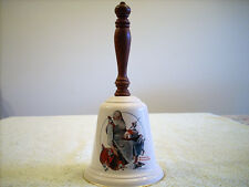 "Gorham Fine China Norman Rockwell ""Santa'S Helpers"" Porcelain Bell 1975"