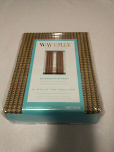 "1 WAVERLY Grantham Plaid Grommet Curtain Rod Drapery Panel Chestnut 52""x 84"" NIP"