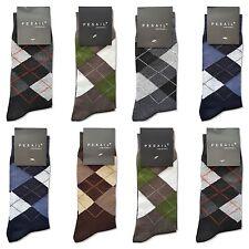 6 Paar Pesail Socken Herren Rautenmuster/Farb-Mix Größe 39-42 80% Baumwolle