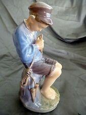 Vintage ROYAL COPENHAGEN DENMARK Figurine Boy Whittling 1954