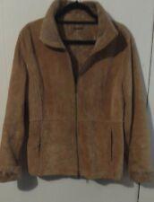 604c7e7f52a1 GUESS Women's Suede Coat Jacket Faux Fur Shearling Lining Size M